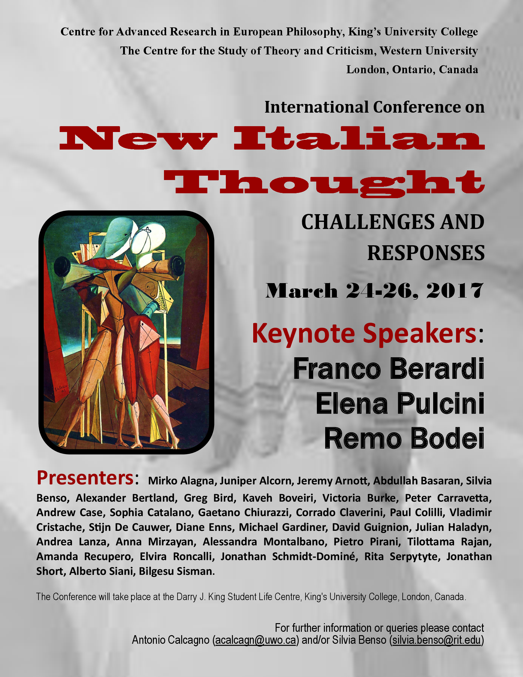 "International Conference on ""New Italian Thought"""