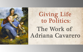 Giving life to politics: the work of Adriana Cavarero – University of Brighton