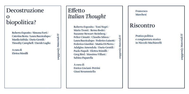 "G. Paoletti's speech at the conference ""Italian Thought: from Machiavelli to Biopolitics"""
