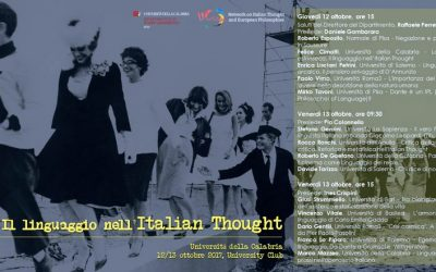 Language in Italian Thought – University of Calabria