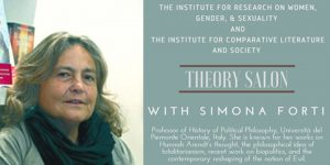 Theory Salon with Simona Forti – Institute for comparative literature and society