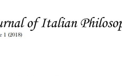 """First issue of """"Journal of Italian Philosophy"""""""