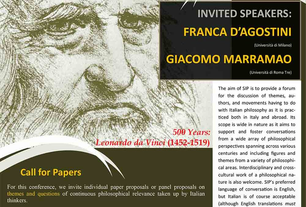 Society for Italian Philosophy annual meeting 2019