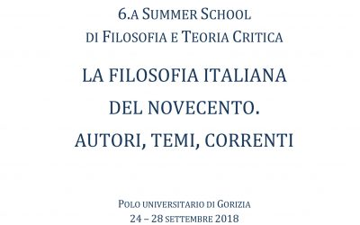 Summer School in Philosophy and critical theory