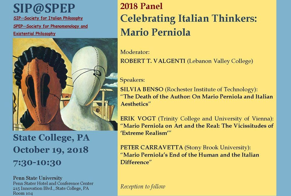 Celebrating Mario Perniola