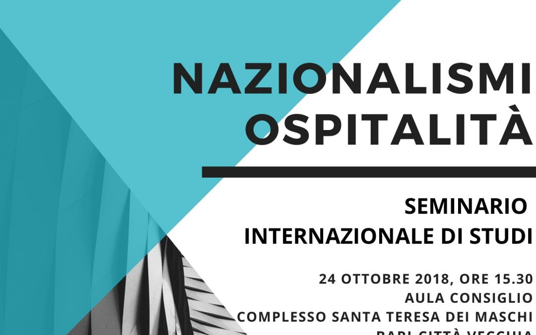 International Seminar: NATIONALISMS/HOSPITALITY